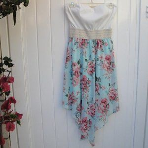 WILD DAISY knit top with Floral Print Dress L
